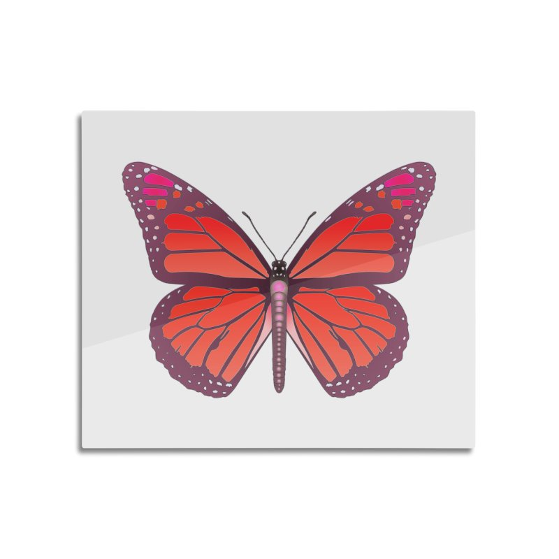D28 monarch red butterfly by LajarinDream Home Mounted Acrylic Print by LajarinDream