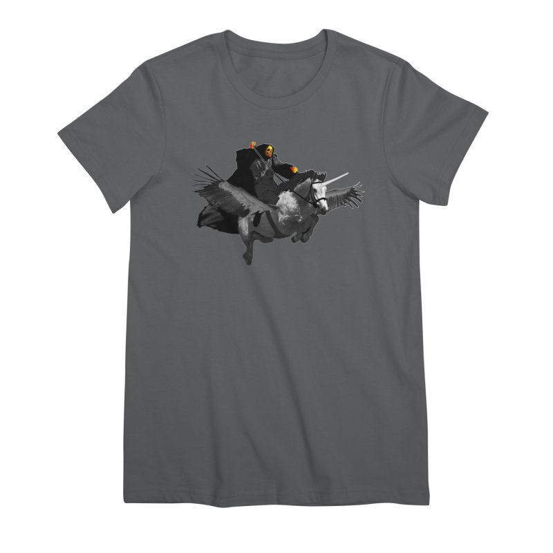 PC39 Ghost and winged unicorn Women's T-Shirt by LajarinDream