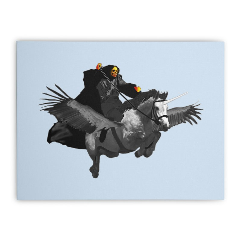 PC39 Ghost and winged unicorn Home Stretched Canvas by LajarinDream