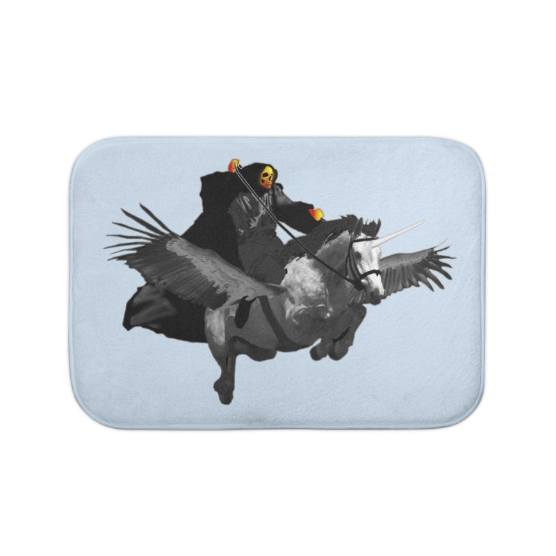 PC39 Ghost and winged unicorn Home Bath Mat by LajarinDream