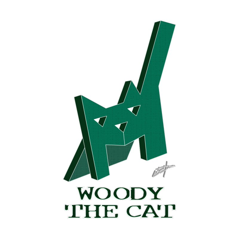D29 Woody The Cat Home Stretched Canvas by LajarinDream