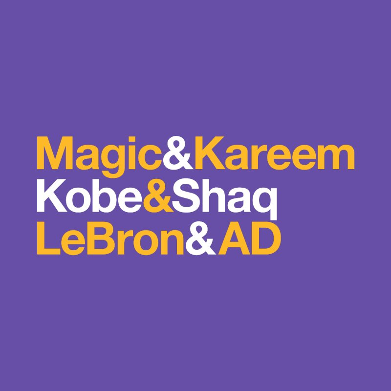 LeBron&AD Kids T-Shirt by Lakers Nation's Artist Shop