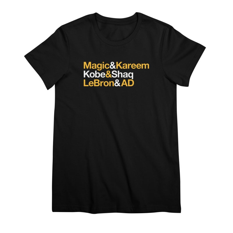 LeBron&AD Women's Premium T-Shirt by Lakers Nation's Artist Shop