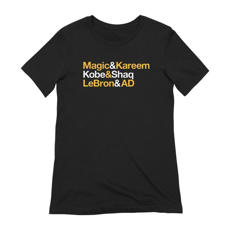 LeBron&AD Women's Extra Soft T-Shirt by Lakers Nation's Artist Shop