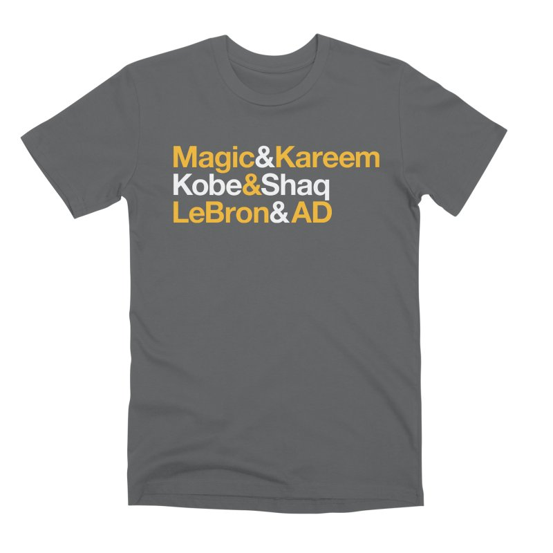 LeBron&AD Men's Premium T-Shirt by Lakers Nation's Artist Shop