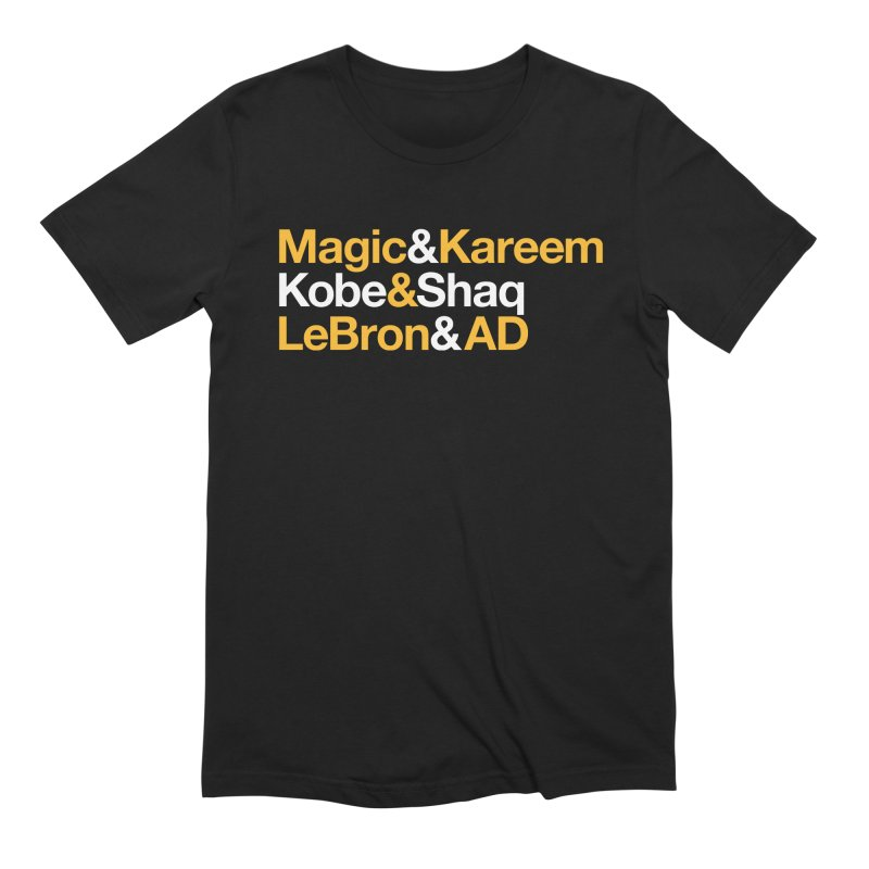 LeBron&AD Men's Extra Soft T-Shirt by Lakers Nation's Artist Shop