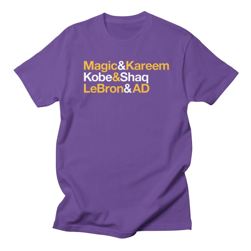 LeBron&AD in Men's Regular T-Shirt Purple by Lakers Nation's Artist Shop