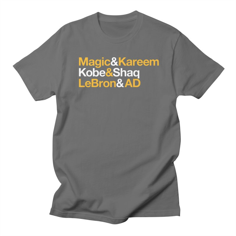 LeBron&AD Men's Regular T-Shirt by Lakers Nation's Artist Shop