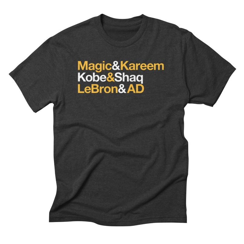 LeBron&AD Men's Triblend T-Shirt by Lakers Nation's Artist Shop