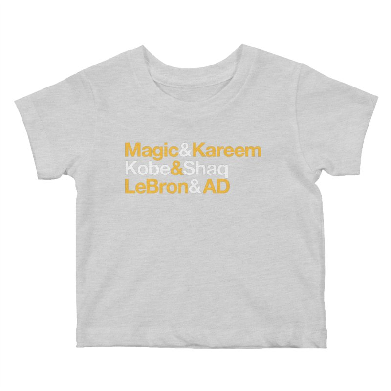 LeBron&AD Kids Baby T-Shirt by Lakers Nation's Artist Shop