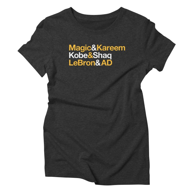 LeBron&AD Women's Triblend T-Shirt by Lakers Nation's Artist Shop