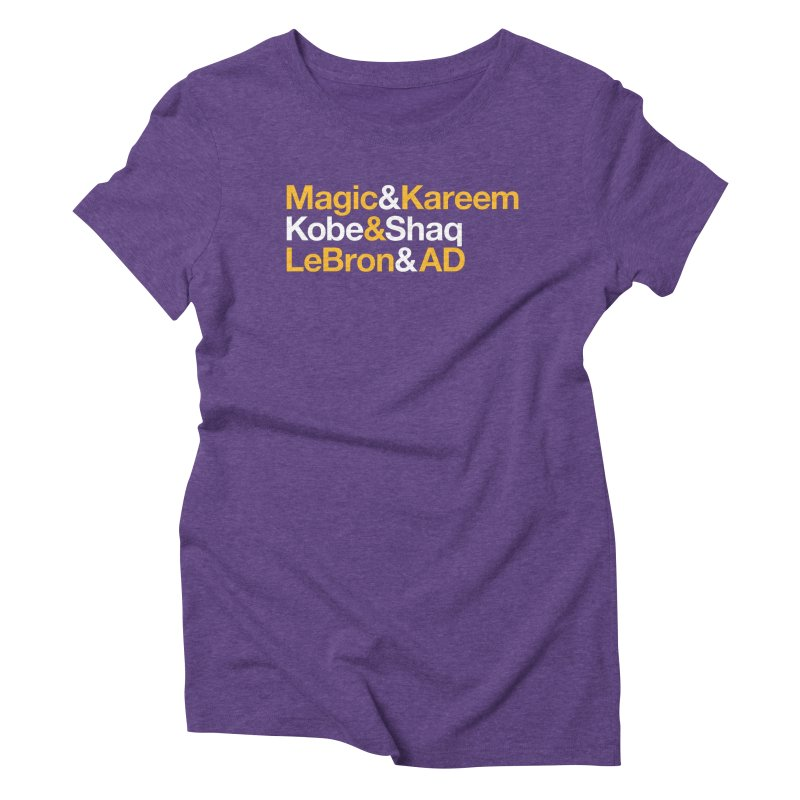LeBron&AD Women's T-Shirt by Lakers Nation's Artist Shop