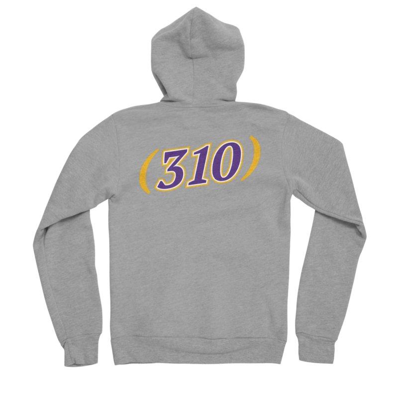 310 Women's Sponge Fleece Zip-Up Hoody by Lakers Nation's Artist Shop