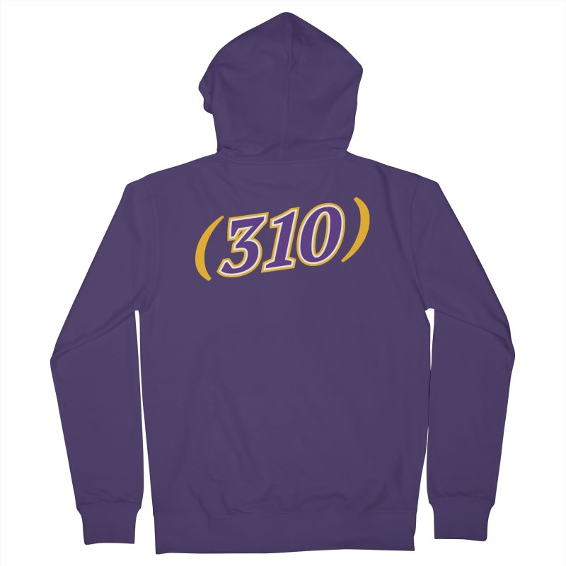 310 Women's French Terry Zip-Up Hoody by Lakers Nation's Artist Shop