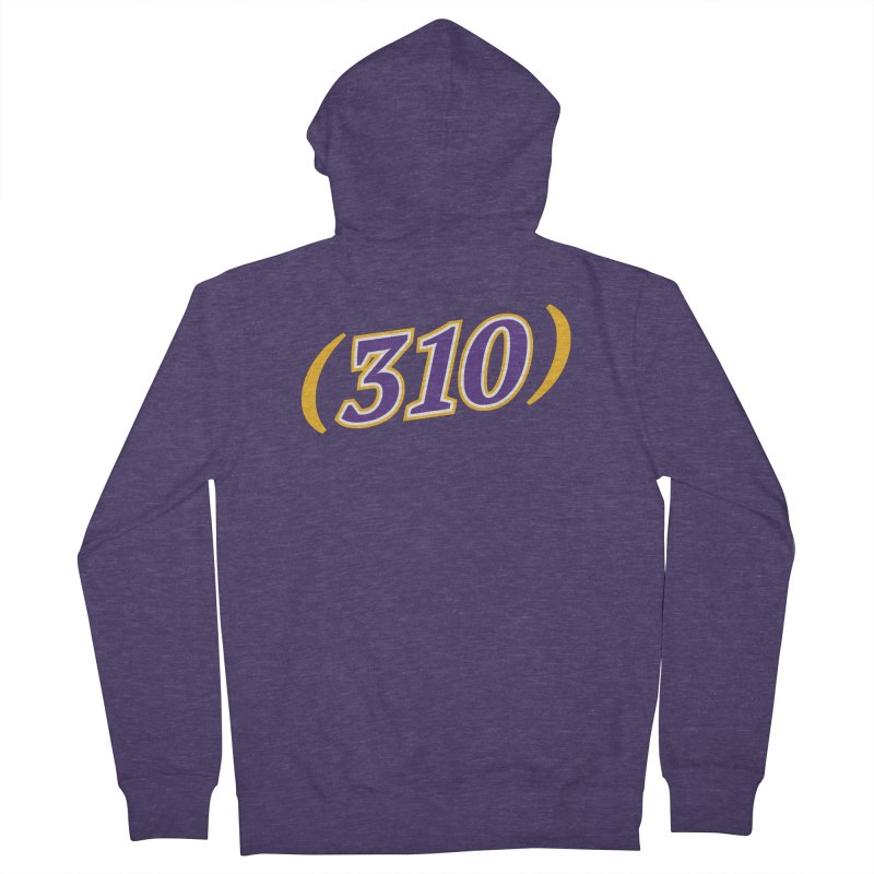 310 Men's Zip-Up Hoody by Lakers Nation's Artist Shop