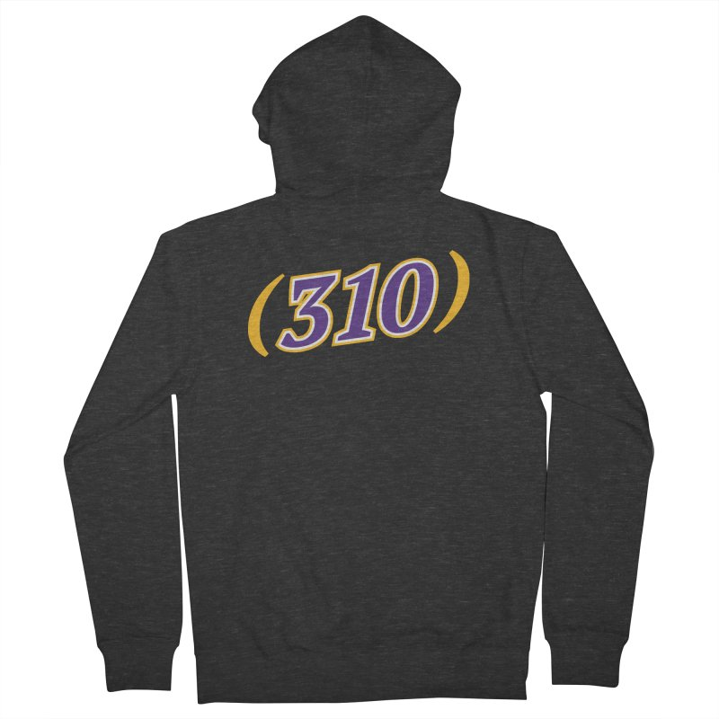 310 Men's French Terry Zip-Up Hoody by Lakers Nation's Artist Shop