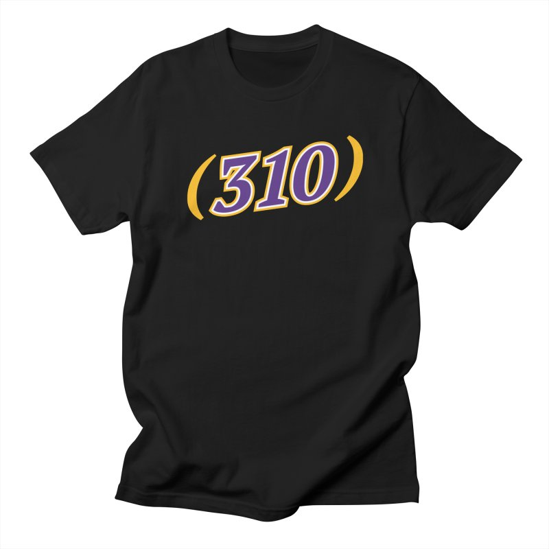 310 in Men's Regular T-Shirt Black by Lakers Nation's Artist Shop