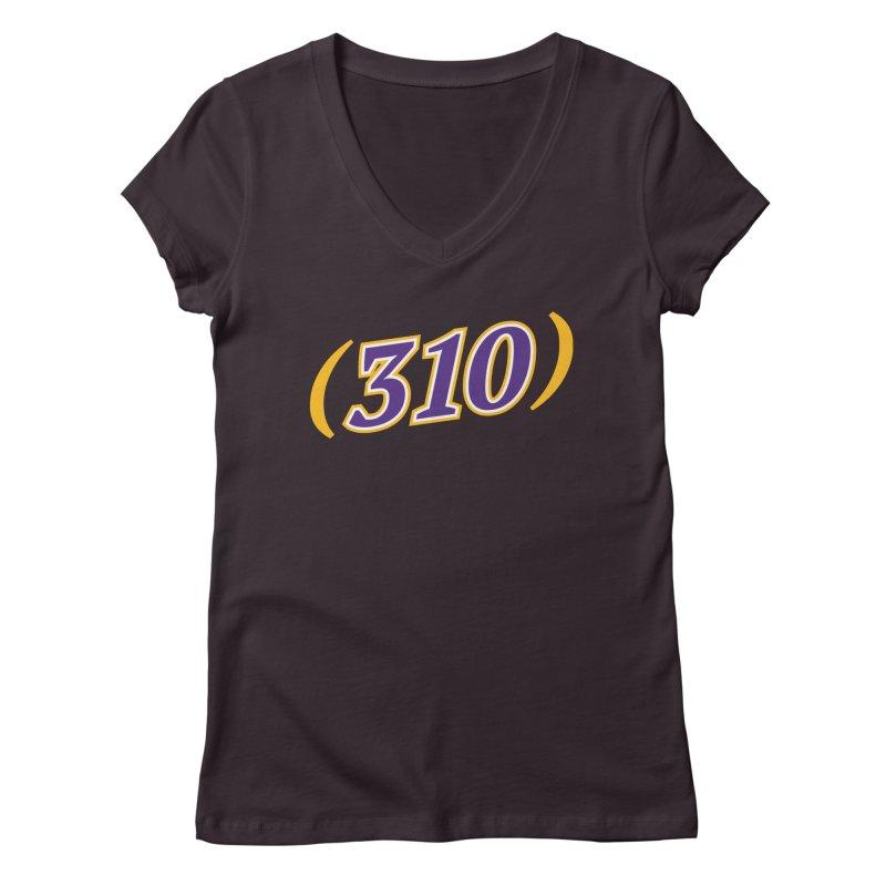 310 Women's Regular V-Neck by Lakers Nation's Artist Shop