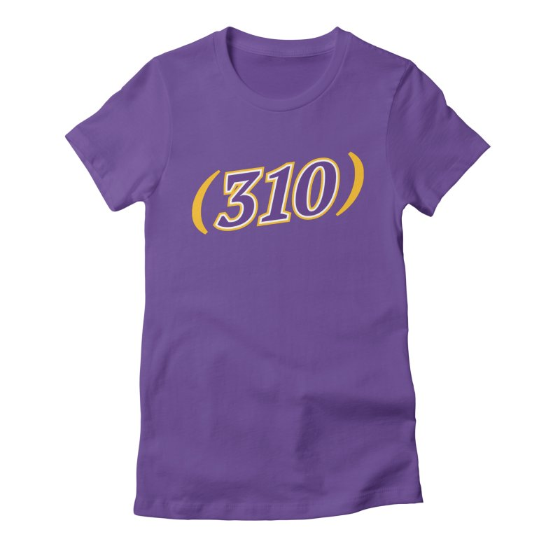 310 Women's Fitted T-Shirt by Lakers Nation's Artist Shop