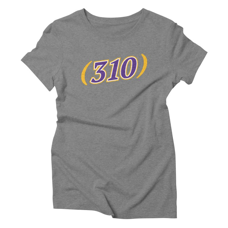 310 Women's Triblend T-Shirt by Lakers Nation's Artist Shop