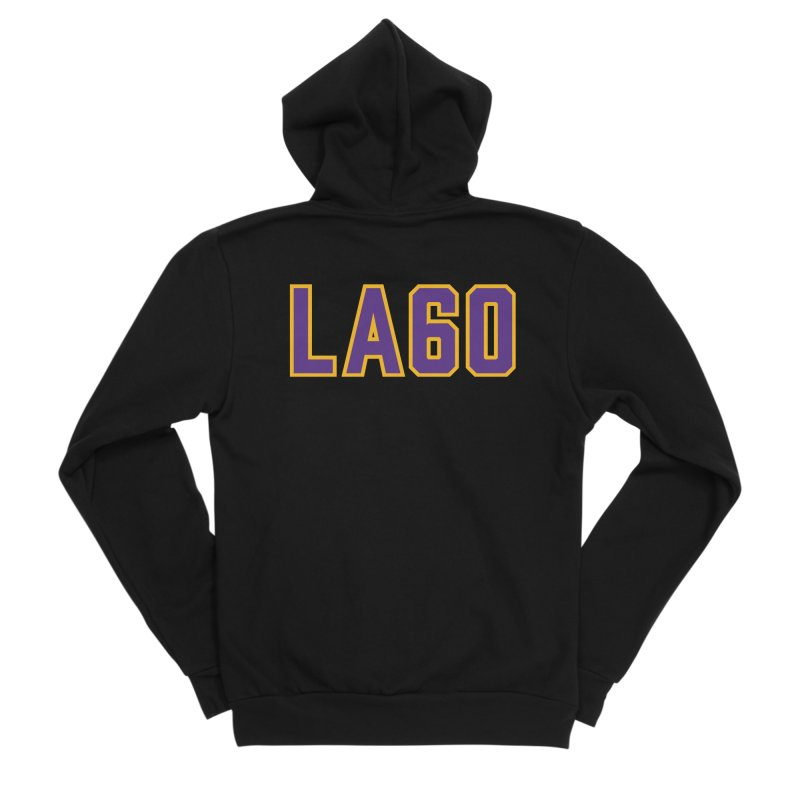Sixty Years Women's Sponge Fleece Zip-Up Hoody by Lakers Nation's Artist Shop