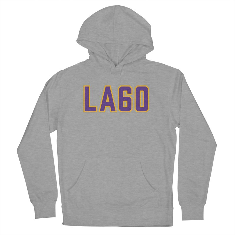 Sixty Years Women's French Terry Pullover Hoody by Lakers Nation's Artist Shop