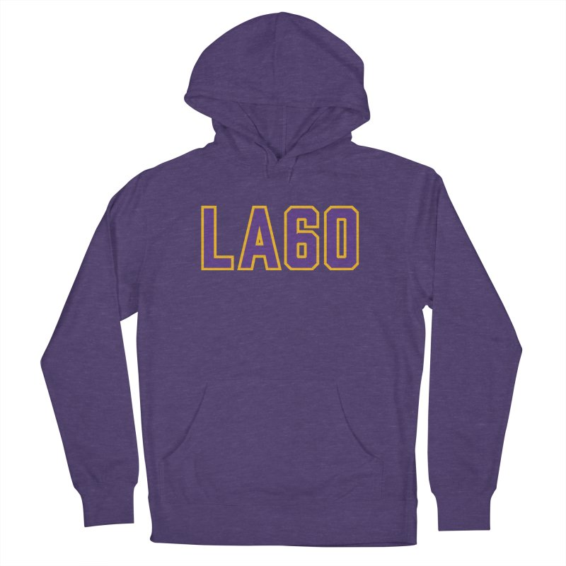 Sixty Years Men's French Terry Pullover Hoody by Lakers Nation's Artist Shop