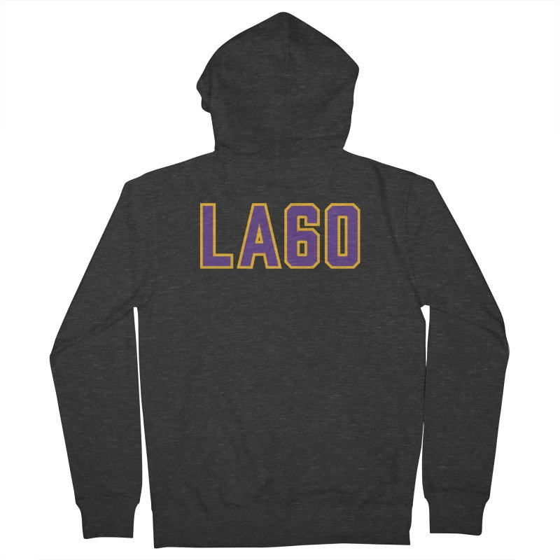 Sixty Years Women's French Terry Zip-Up Hoody by Lakers Nation's Artist Shop