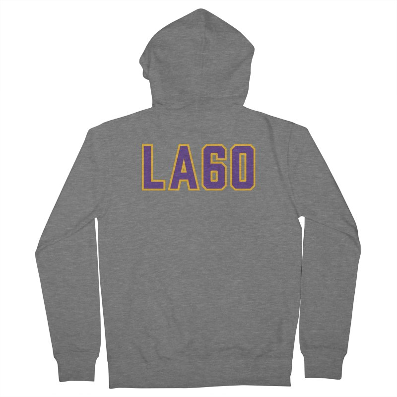 Sixty Years Men's French Terry Zip-Up Hoody by Lakers Nation's Artist Shop
