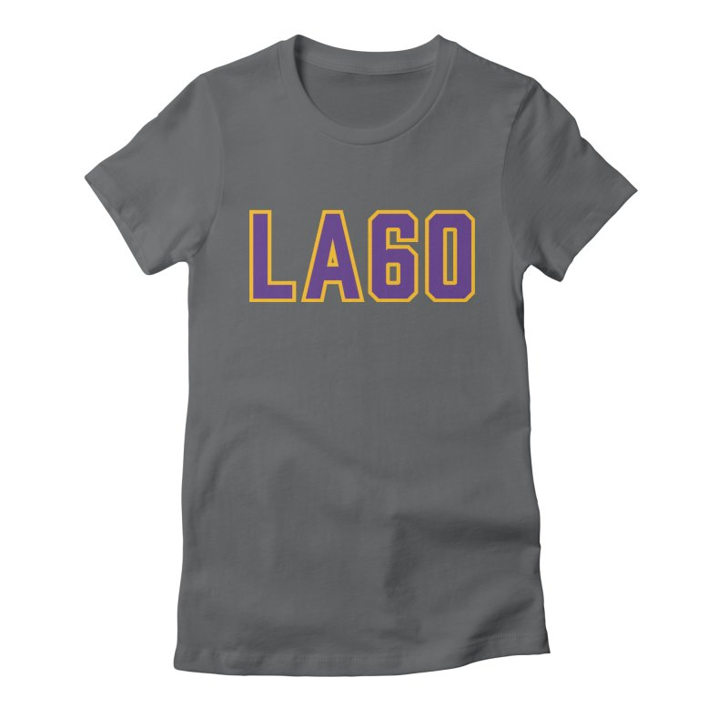 Sixty Years Women's Fitted T-Shirt by Lakers Nation's Artist Shop