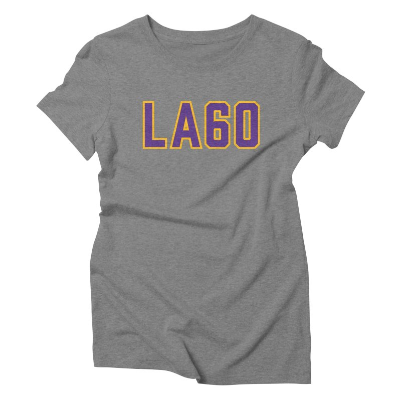 Sixty Years Women's Triblend T-Shirt by Lakers Nation's Artist Shop