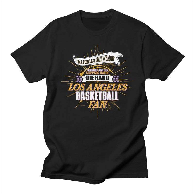 LAL Fan in Men's Regular T-Shirt Black by Lakers Nation's Artist Shop