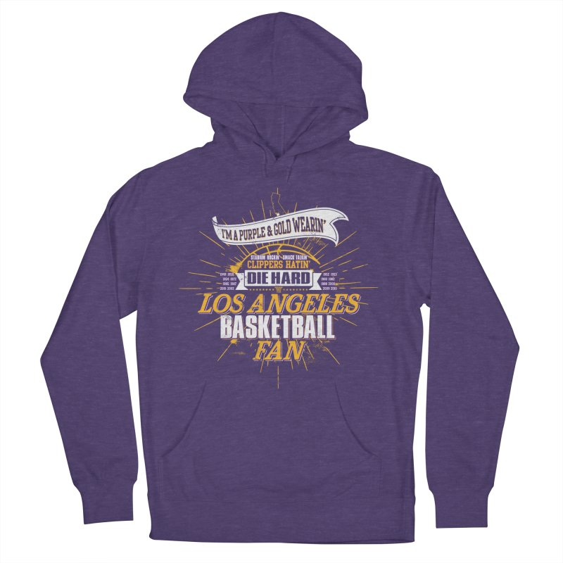 LAL Fan Men's French Terry Pullover Hoody by Lakers Nation's Artist Shop