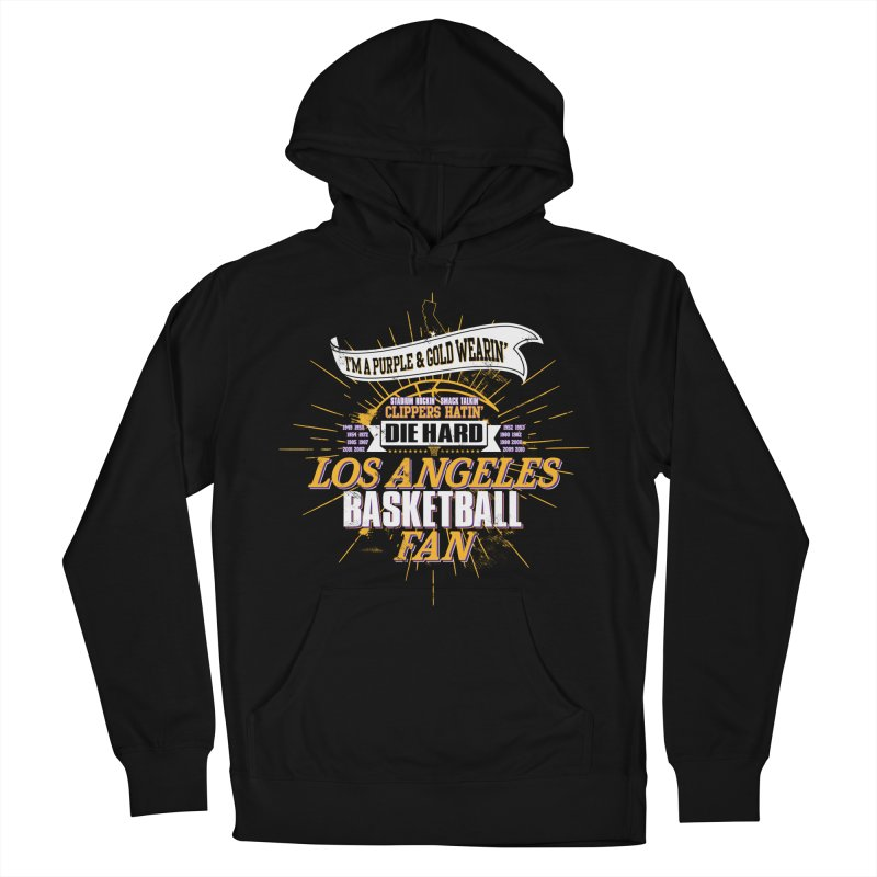 LAL Fan Men's French Terry Pullover Hoody by lakersnation's Artist Shop