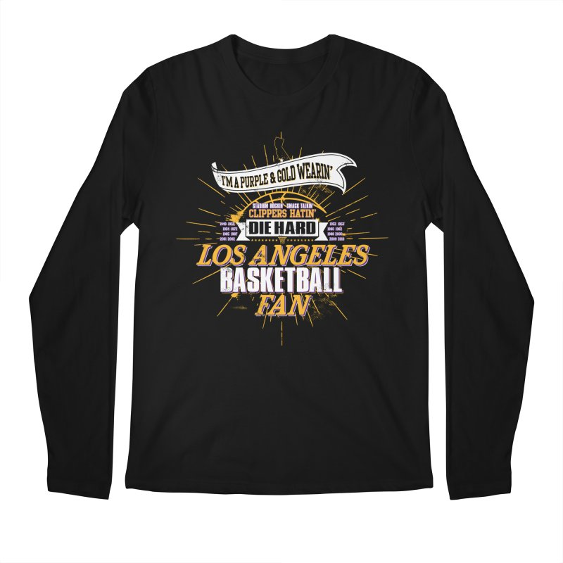 LAL Fan Men's Regular Longsleeve T-Shirt by Lakers Nation's Artist Shop