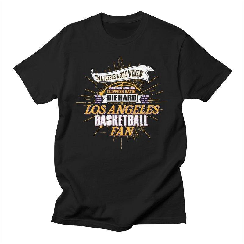 LAL Fan Men's T-Shirt by Lakers Nation's Artist Shop