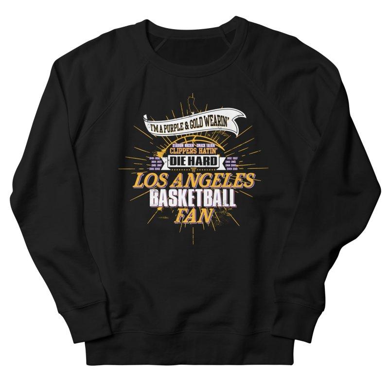 LAL Fan Men's French Terry Sweatshirt by Lakers Nation's Artist Shop