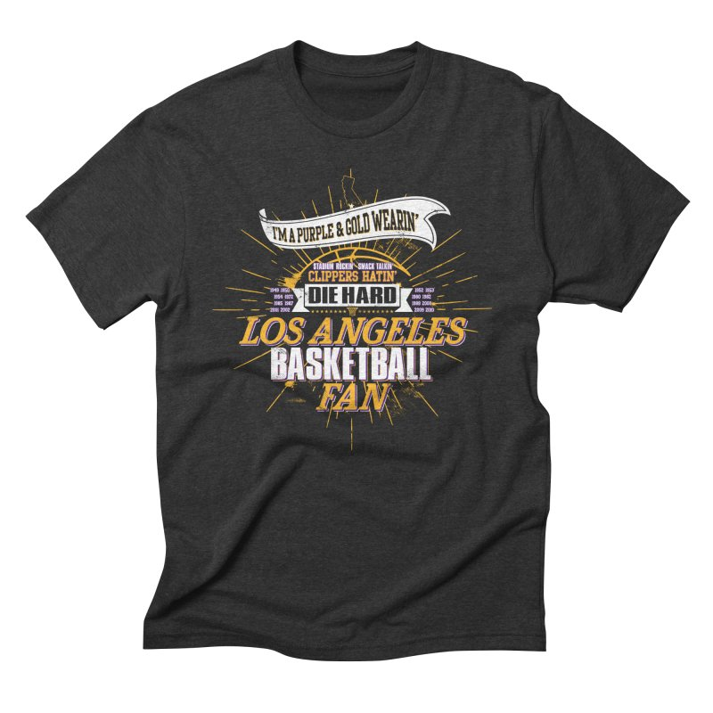 LAL Fan Men's Triblend T-Shirt by Lakers Nation's Artist Shop
