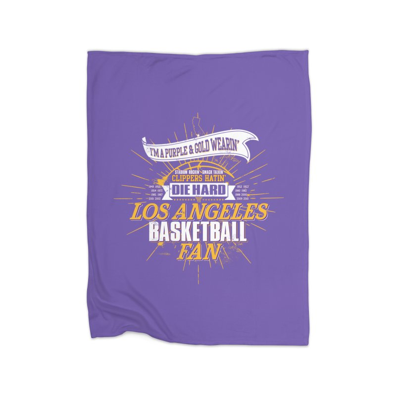 LAL Fan Home Blanket by lakersnation's Artist Shop