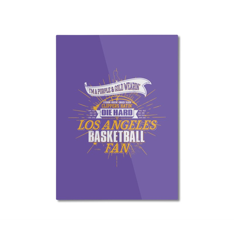 LAL Fan Home Mounted Aluminum Print by Lakers Nation's Artist Shop