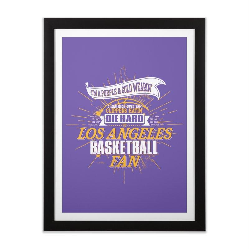 LAL Fan Home Framed Fine Art Print by Lakers Nation's Artist Shop
