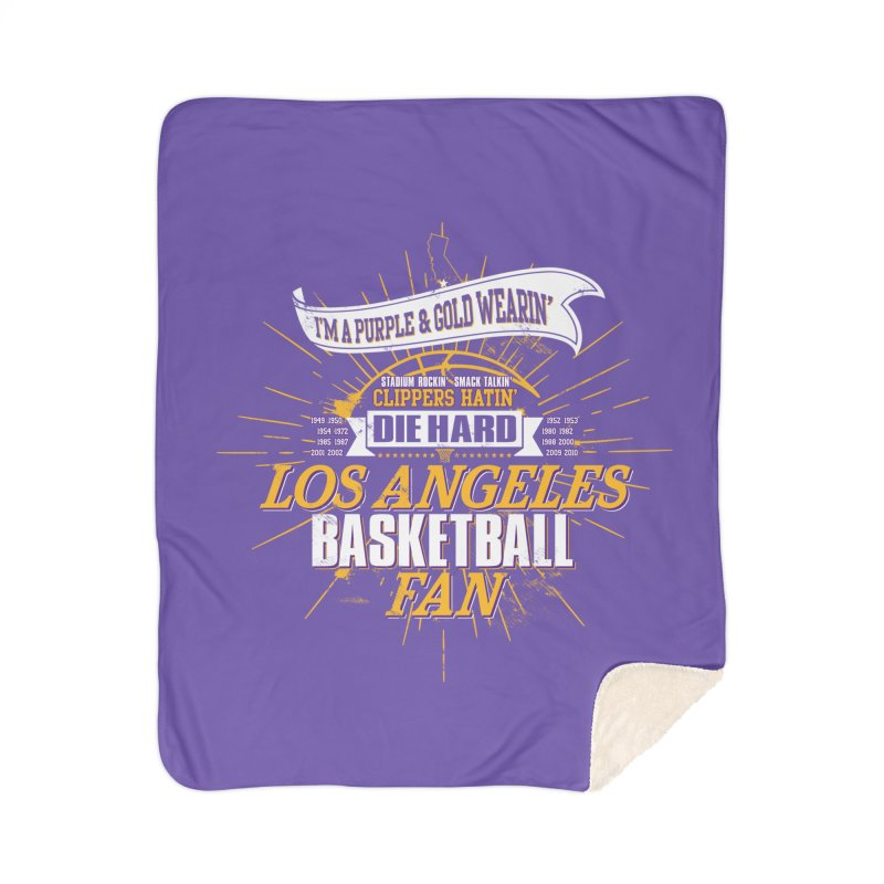 LAL Fan Home Sherpa Blanket Blanket by Lakers Nation's Artist Shop