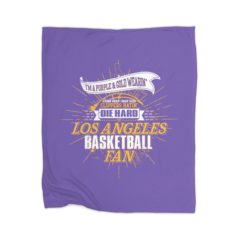 LAL Fan Home Blanket by Lakers Nation's Artist Shop
