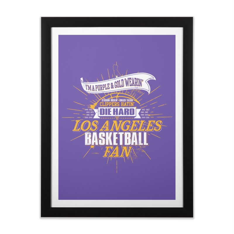 LAL Fan Home Framed Fine Art Print by Lakers Nation's Artist Shop