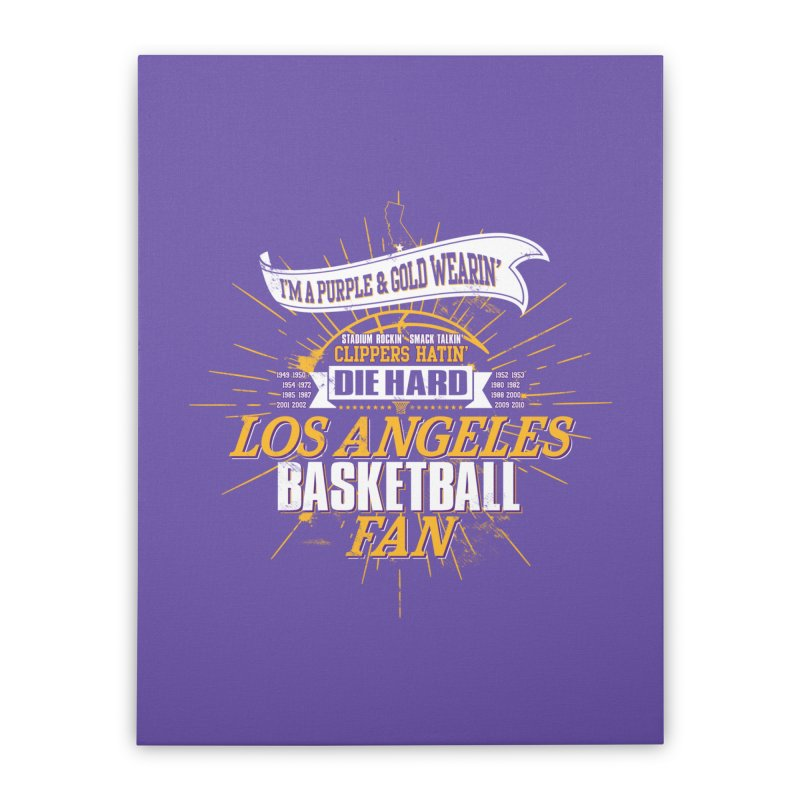 LAL Fan Home Stretched Canvas by lakersnation's Artist Shop