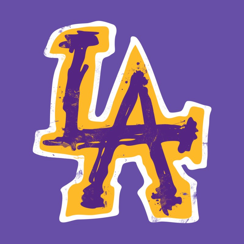 FEAR L.A. Accessories Beach Towel by Lakers Nation's Artist Shop