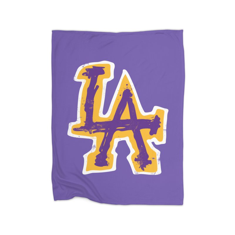FEAR L.A. Home Fleece Blanket Blanket by Lakers Nation's Artist Shop