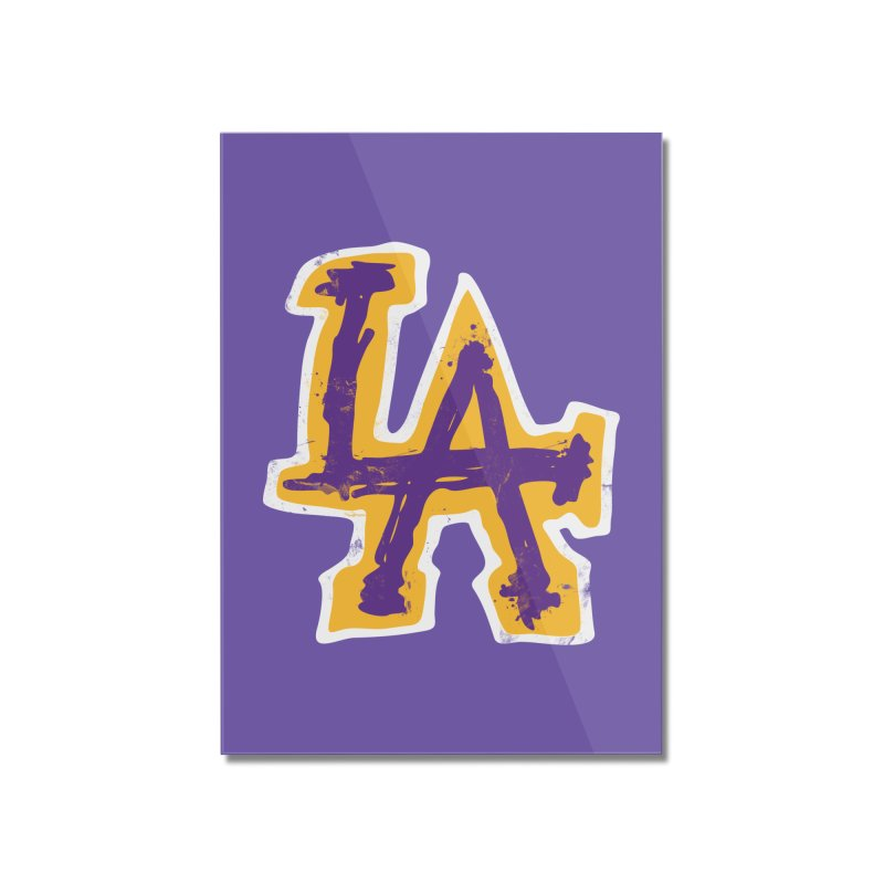 FEAR L.A. Home Mounted Acrylic Print by Lakers Nation's Artist Shop