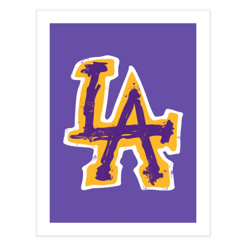 Purple and Gold LA Home Fine Art Print by lakersnation's Artist Shop