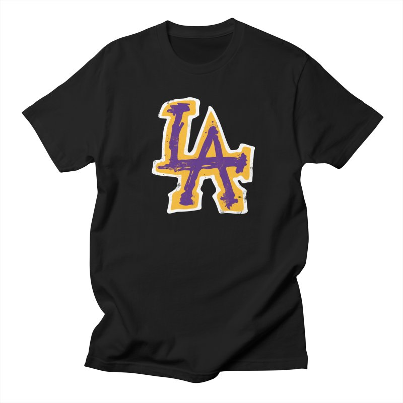 FEAR L.A. in Men's Regular T-Shirt Black by Lakers Nation's Artist Shop